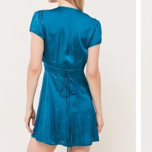 Urban Outfitters Dresses - UO Satin Faux Wrap Dress